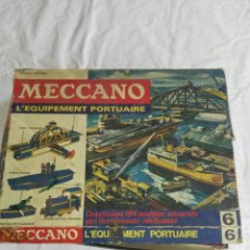 Juguetes antiguos y Juegos de colección: MECCANO PORTUARIO ANTIGUO FRANCES. Lote 112710274