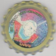 Juguetes antiguos y Juegos de colección: COLECCIÓN TAZOS MATUTANO DRAGON BALL Z GT CHAPS TAZO CAPS POGS #97 KIAIGAN KAIOH SHIN KIBITO. Lote 113211671
