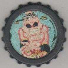 Juguetes antiguos y Juegos de colección: COLECCIÓN TAZOS MATUTANO DRAGON BALL Z GT CHAPS TAZO CAPS POGS #27 DEMON MAJIN BOO POWER 7.000. Lote 113211783