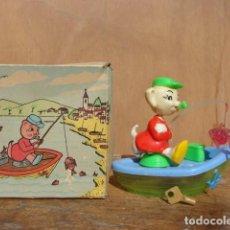 Juguetes antiguos y Juegos de colección: PRECIOSA HUCHA PERRO PESCADOR . Lote 113344839