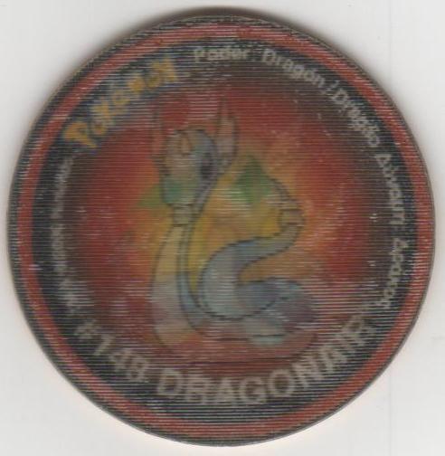 COLECCIÓN TAZOS MATUTANO POKÉMON TAZO 2 HOLOGRÁFICO CAPS #147 DRATINI #148 DRAGONAIR #149 DRAGONITE (Juguetes - Varios)