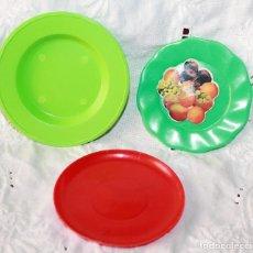 Juguetes antiguos y Juegos de colección: PLATOS DE PLASTICO JUGUETE-VINTAGE. Lote 115345143