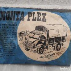 Juguetes antiguos y Juegos de colección: SOBRE MONTAPLEX CAMION MILITAR DE TRANSPORTE 1967. Lote 118088551