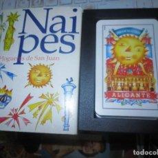 Juguetes antiguos y Juegos de colección: HOGUERAS DE ALICANTE BARAJA CARTAS COMPLETA CON ESTUCHE , SIN USO. Lote 149671250