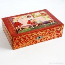 Juguetes antiguos y Juegos de colección: ANTIGUO JOYERO ESPEJO INFANTIL. AÑOS 40-50. Lote 118775119