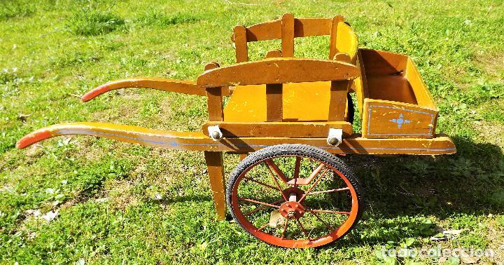 Juguetes antiguos y Juegos de colección: Antigua carreta de juguete años 60 - Foto 3 - 119001679