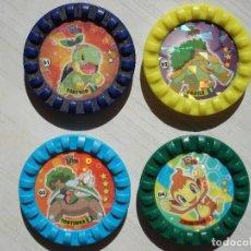 Juguetes antiguos y Juegos de colección: LOTE DE 47 TAZO TAZOS CAPS DISTINTOS DIFERENTES POKEMON ROKS MATUTANO AÑO 2007. Lote 121175275