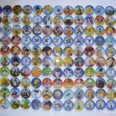 Juguetes antiguos y Juegos de colección: E-MAX TOEI ANIMATION DRAGON BALL Z METAL GLIDERS TAZO METÁLICO COLECCIÓN COMPLETA TAZOS ANIME ESPAÑA. Lote 121362363