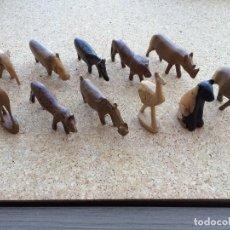 Juguetes antiguos y Juegos de colección: ANTIGUOS ANIMALES DE MADERA. Lote 122914647