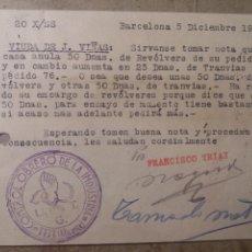 Juguetes antiguos y Juegos de colección: GUERRA CIVIL ,CONTROL OBRERO U.G.T. IBI ALICANTE. 1936. Lote 124286184
