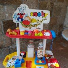 Juguetes antiguos y Juegos de colección: SMOBY - SUPER BURGUER - MEDITERRÁNEO. Lote 125143054