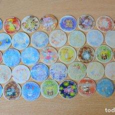 Juguetes antiguos y Juegos de colección: LOTE 47 TAZOS POKEMON EN MALA CONSERVACIÓN. Lote 125306587