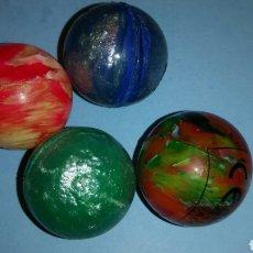 Juguetes antiguos y Juegos de colección: LOTE 4 PELOTAS SALTARINAS. Lote 126393458