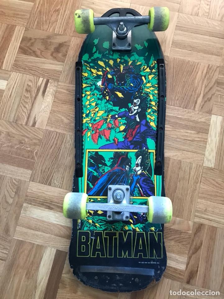 SKATEBOARD ANTIGUO MONOPATIN BATMAN DC COMICS 1989 SIMILAR A SANTA CRUZ POWEL PERALTA ZORLAC (Juguetes - Varios)