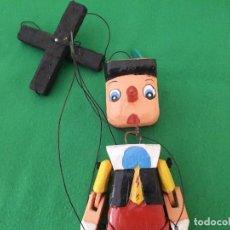 Juguetes antiguos y Juegos de colección: MARIONETA PINOCHO MADERA 20 CMS – NUEVO. Lote 127935267