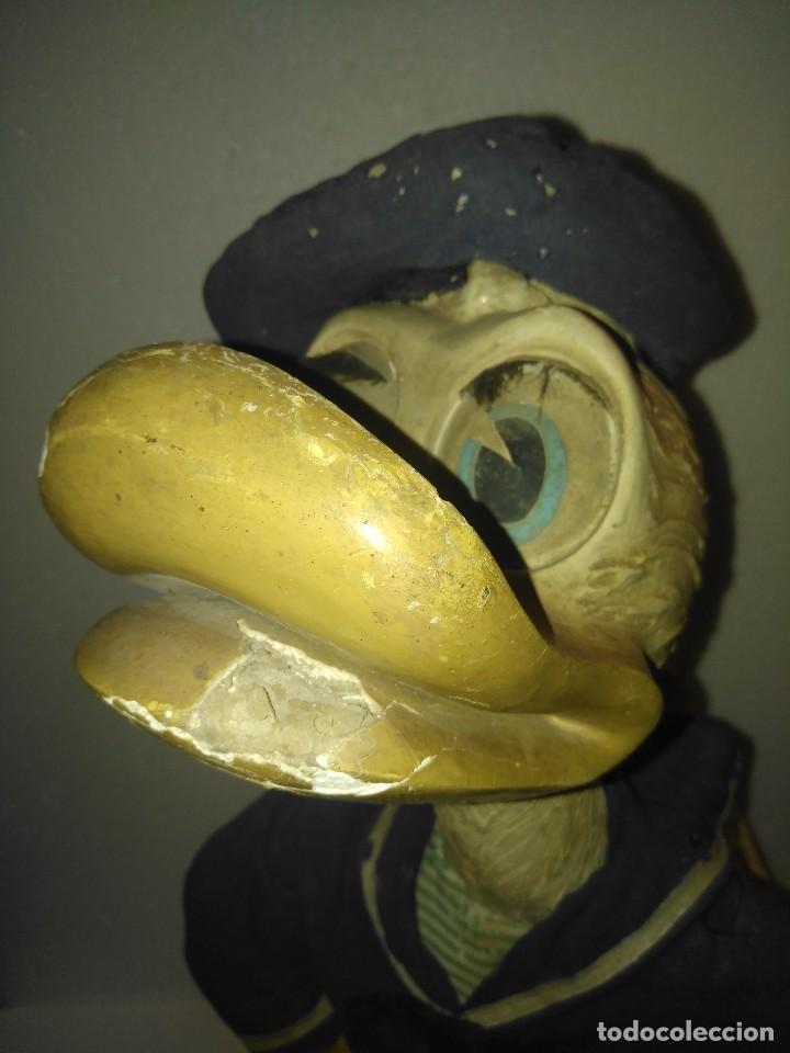 Juguetes antiguos y Juegos de colección: Espectacular gran figura antigua de escaparate Pato Donald, Disney - Foto 8 - 127978695