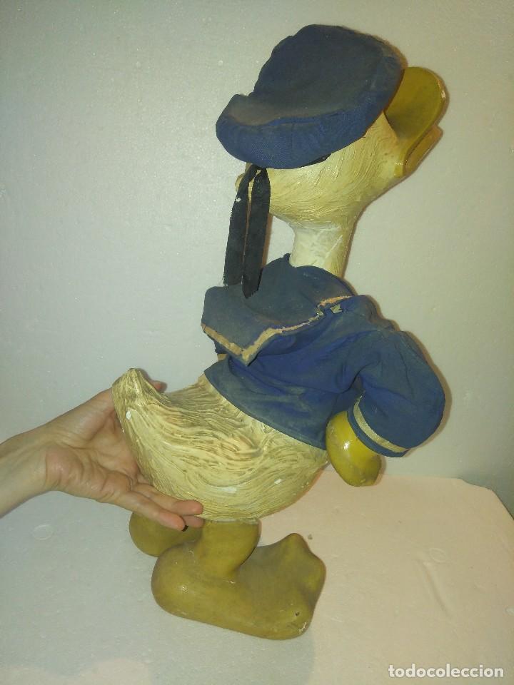 Juguetes antiguos y Juegos de colección: Espectacular gran figura antigua de escaparate Pato Donald, Disney - Foto 10 - 127978695