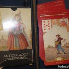 Juguetes antiguos y Juegos de colección: ANTIGUO JUEGO DEL DESTINO CARTAS ADIVINATORIAS BARAJA COMPLETA SIN USO EN ESTUCHE. Lote 128068839