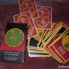 Juguetes antiguos y Juegos de colección: ORACULO HINDU JUEGO CARTAS ADIVINATORIAS BARAJA COMPLETA SIN USO EN ESTUCHE. Lote 128091379