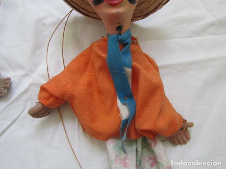 2 Marionetas O Titeres Carton Piedra Madera Y Comprar En
