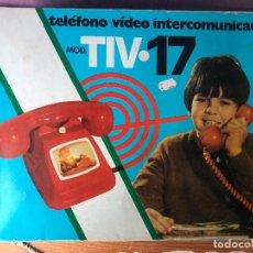 Juguetes antiguos y Juegos de colección: TELEFONO VIDEO INTERCOMUNICADO MODELO TIV 17 - NUEVO DE JUGUETERIA. Lote 131068112
