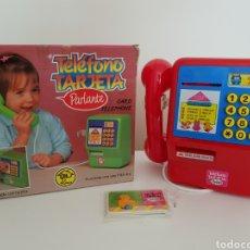 Juguetes antiguos y Juegos de colección: NUEVO!! TELÉFONO TARJETA PARLANTE, DE RIMA, AÑOS 80/90.. Lote 132667837