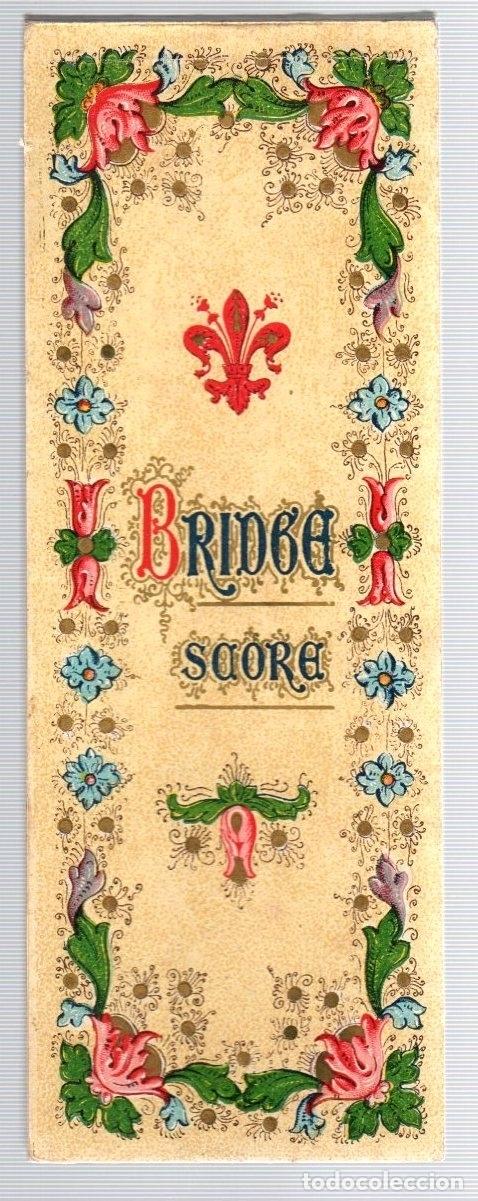 BLOC BRIDGE SCORE. BLOC UTILIZADO PARA APUNTAR RESULTADOS DE JUEGO BRIDGE. ITALIA. CIRCA 1920 (Juguetes - Varios)