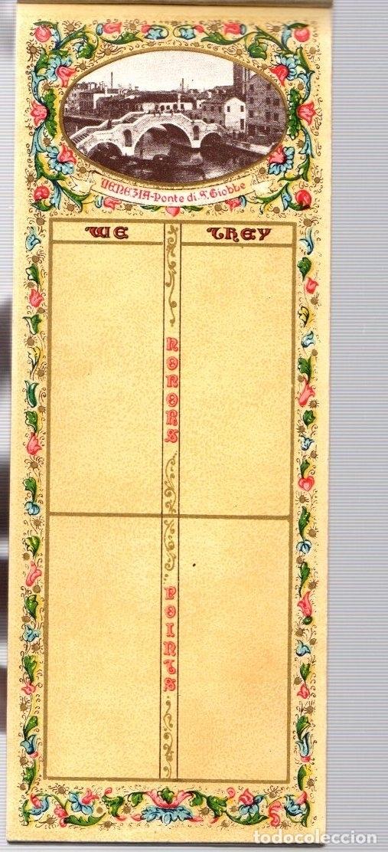 Juguetes antiguos y Juegos de colección: BLOC BRIDGE SCORE. BLOC UTILIZADO PARA APUNTAR RESULTADOS DE JUEGO BRIDGE. ITALIA. CIRCA 1920 - Foto 3 - 133817743
