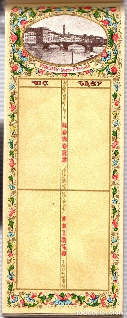 Juguetes antiguos y Juegos de colección: BLOC BRIDGE SCORE. BLOC UTILIZADO PARA APUNTAR RESULTADOS DE JUEGO BRIDGE. ITALIA. CIRCA 1920 - Foto 4 - 133817743