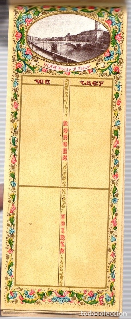 Juguetes antiguos y Juegos de colección: BLOC BRIDGE SCORE. BLOC UTILIZADO PARA APUNTAR RESULTADOS DE JUEGO BRIDGE. ITALIA. CIRCA 1920 - Foto 5 - 133817743