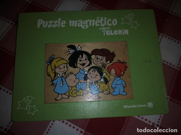 Juguetes antiguos y Juegos de colección: familia telerin ,cuadro hecho con la tapa del puzzle de familia telerin ,años 70/80 - Foto 2 - 135160798