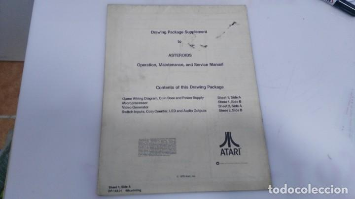 ANTIGUO MANUAL DE MAQUINA RECREATIVA ASTEROID DE ATARI (Juguetes - Varios)