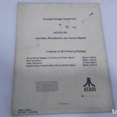 Juguetes antiguos y Juegos de colección: ANTIGUO MANUAL DE MAQUINA RECREATIVA ASTEROID DE ATARI. Lote 137998622