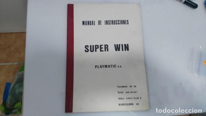 ANTIGUO MANUAL DEINSTRUCIONES DE MAQUINA RECREATIVA SUPER WIN (Juguetes - Varios)
