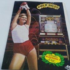 Juguetes antiguos y Juegos de colección: ANTIGUO FLAYER MAQUINA RECREATIVA TRAGAPERRAS GOLD RUSH. Lote 137999126