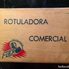 Juguetes antiguos y Juegos de colección: ROTULADORA COMERCIAL FLEX COMPLETA. Lote 138102814
