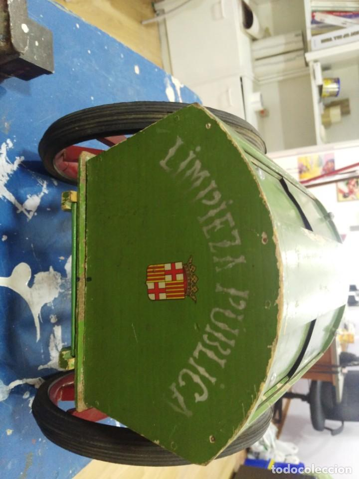 Carro Publica Denia Antiguo De Barcelona Madera Muy Grande Limpieza R5qc4jS3LA
