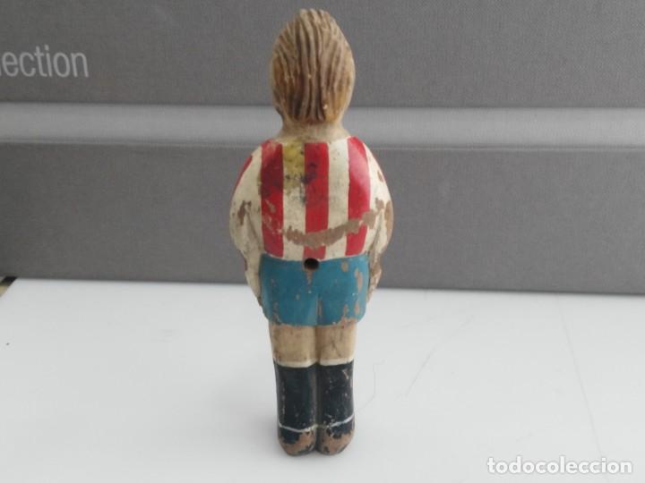 Madrid Jugador Futbolin Atletico De Madera Antiguo gbfyY76