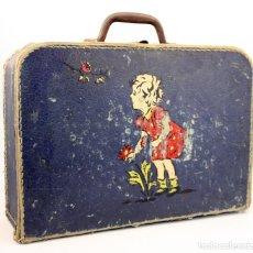 Juguetes antiguos y Juegos de colección: ANTIGUA MALETA ESCOLAR PARA NIÑA - AÑOS 40 / 50 - MALETIN, CABAS - CARTÓN DURO. Lote 138873918