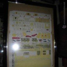 Juguetes antiguos y Juegos de colección: ANTIGUO JUEGO JUGUETES CEACIONES KIKI CAMPO AVIACION Nº 1 VIGO ANGAR AVION PILOTO 90 X 60 CMS. Lote 43586715