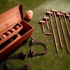 Juguetes antiguos y Juegos de colección: SET COMPLETO DE CROQUET. Lote 139856330