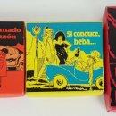 Juguetes antiguos y Juegos de colección: COLECCIÓN DE 3 CAJAS BROMA. CARTONE IMPRESO. CIRCA 1970. . Lote 140064378