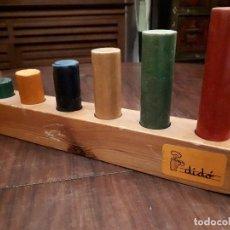 Juguetes antiguos y Juegos de colección: ANTIGUO JUEGO DE MADERA EDUCATIVO. MARCA DIDO. Lote 140548642