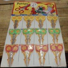 Juguetes antiguos y Juegos de colección: TIJERAS INFANTIL ESCOLAR - PUNTAX - CARTON DE 12 - BOLSA PRECINTADA - SIN ESTRENAR - AÑOS 80. Lote 140908614