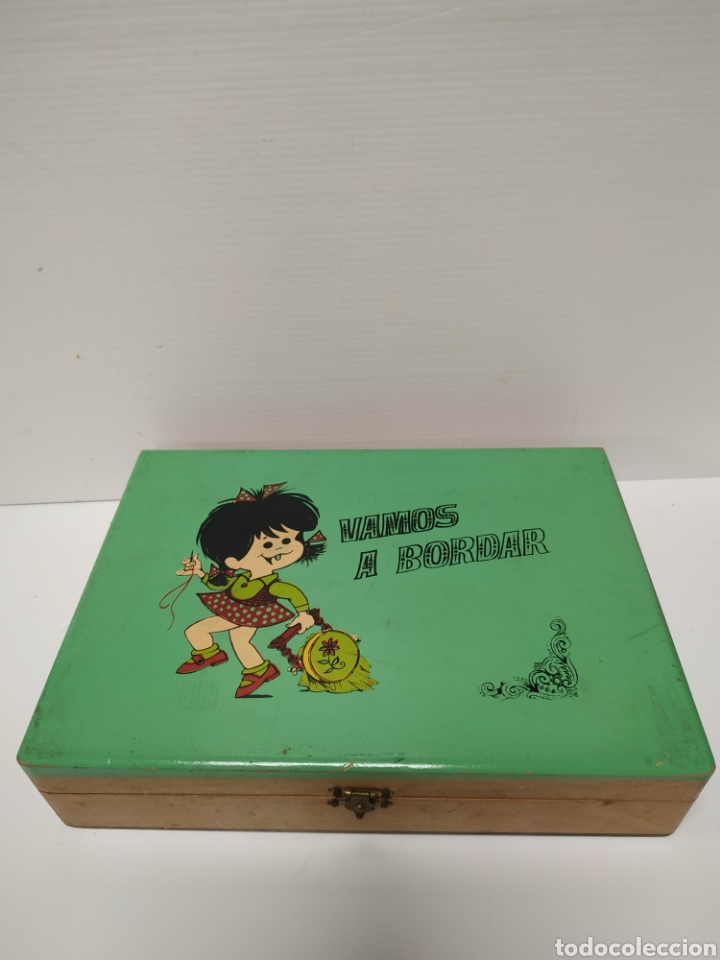 Juguetes antiguos y Juegos de colección: Costurero de madera infantil de la familia telerin - Foto 2 - 141715480