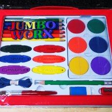 Juguetes antiguos y Juegos de colección: MALETIN PINTURAS JUMBO WORX, NUEVO A ESTRENAR. Lote 142871081