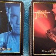 Juguetes antiguos y Juegos de colección: LOTE DE CARTAS, CARD. STAR WARS, YOUNG JEDI, LOTE DE 80 CARTAS EN EXCELENTES CONDICIONES, EN INGLES.. Lote 143351750
