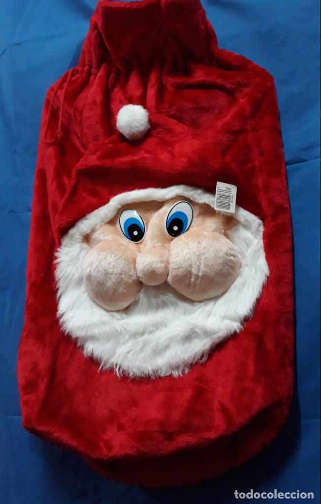 Fotos Simpaticas De Papa Noel.Navidad Papa Noel Saco Macuto Bolsa Terciopelo Rojo Simpatica Cara En Relieve Fotos Y Medidas