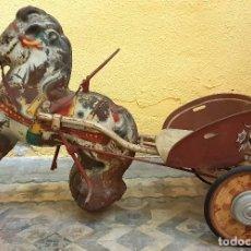 Juguetes antiguos y Juegos de colección: ANTIGUO Y RARO PONY DE GRANDES DIMENSIONES A PEDALES DE LA MARCA MOBO PONY EXPRESS (INGLES) AÑOS 40. Lote 147099802