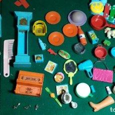 Juguetes antiguos y Juegos de colección: LOTE JUGUETES MUEBLES , ACCESORIOS, ALIMENTACION VER FOTOS. Lote 147530614